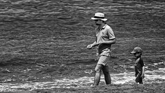 Serious Beach Business (Alfred Grupstra) Tags: people blackandwhite child outdoors boys water summer sea beach fun cultures nature hat vacations lifestyles men childhood corfo greece agiosgordios