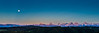 Moonrise, Emmental (uhu's pics) Tags: panorama xpro2 xpro fujinon fuji fujifilm suisse switzerland schweiz emmental blue blau red rot forest wald mountains alpen sky himmel moon vollmond landschaft dämmerung