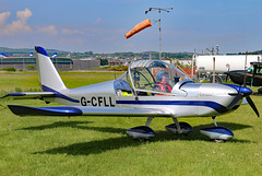 G-CFLL (GH@BHD) Tags: gcfll evektor evektoraerotechnik ev97 eurostar microlight newtownardsairfield newtownards ulsterflyingclub aircraft aviation