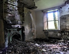 ABANDONED COTTAGE, DUMFRIESSHIRE (pajacksonartist) Tags: urbex old abandoned cottage dumfriesshire scotland interior room home house fireplace ruin ruined decay
