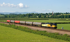 Cummersdale tanks (stevenjcrozier) Tags: 60026 heads north cummersdale heading towards currock with last portion tanks for day 6c34 dalston carlisle yard 030617