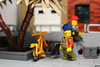 Some members of the crew... (Devid VII) Tags: devid vii detail lego moc military crew post apoc war happiness minifig minifigs minifigures diorama details weapon weapons happy smile scene second devidvii