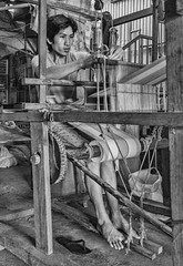 Loom Craftsman (FotoGrazio) Tags: filipino lostart man pacificislander philippines pinoy vigan waynegrazio waynesgrazio weaver art composition contraptions fabric fabricmaking feet fotograzio handmade humanancienttechnology humanoperated loom male manuallabor men people textiles weave weaving yarn