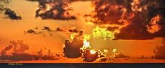horizon (albyn.davis) Tags: sun sunset sky clouds horizon color colors orange yellow bright vivid vibrant light evening