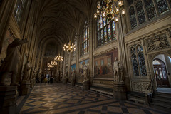 NH0A7107s (michael.soukup) Tags: westminster palace london uk unitedkingdom england houseofcommons thames gothic architecture stainedglass hall royalgallery fresco statue