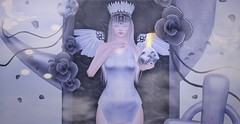 ♚ 337 ♚ (Luxury Dolls) Tags: white silver yokai ersch erschyokai fetch gacha lootbox sintiklia rares rare akeruka bento pandora box flowers dark skull blog blogger style fashion