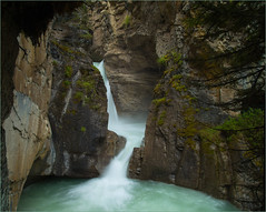 "Johnston Canyon Lower Water Falls "" Alberta Canada"" Explore (ROHphotos.) Tags: waterfalls slowwater canyon water alberta rockymountains explore"