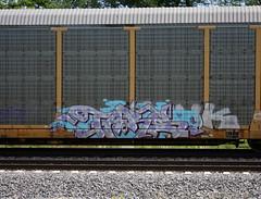 Tars (quiet-silence) Tags: graffiti graff freight fr8 train railroad railcar art autorack tars aa aacrew