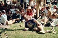 SF - Dr Steve Relaxing (rumimume) Tags: rumimume 90s owensound ontario canada kelsobeach photo music festival summerfolk performer outdoors people folk fun summer august weekend grass