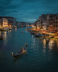Late View of Canal Grande (Jacob Surland) Tags: fineart lines building art fineartphotography landmark oldhouse time cityscape three evening rialtobridge light venezia hdr canal country jacobsurland house threearmedlamppost geometry transport bridge caughtinpixels vintageboat water numbers italy citybynight transportion city venice night lights canalgrande realismdigitalart mahony taxi longexposure warmlight lamppost antiquebuilding oldbuilding architecture boat lamp clouds highdynamicrange taxiboat