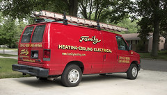 Family Heating & Cooling (Mr. History) Tags: heating cooling saline truck red van