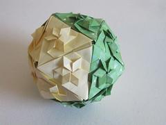 Star Icosahedron (Evan Zodl) (mborigami) Tags: origami modularorigami paper kusudama