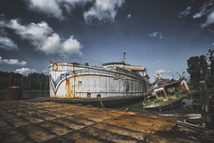Anchored (_soliveyourlife_) Tags: ferry bcferries abandoned explore decay urbanexploring