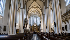 St Mary's - Berlin Church (NeilDonaldson) Tags: people alone symmetry colour peaceful churches places mirroless lumix g80 st marys church berlin black white architecture sculpture pancake lens