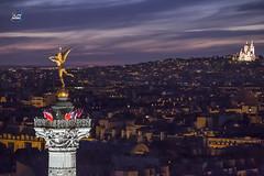 Sunset Paris Bastille (apparencephotos) Tags: paris bastille montmartre bastilleday placedelabastille génie france