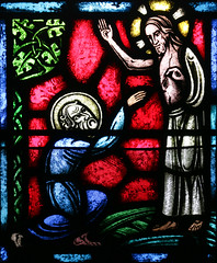 St Thomas sees the Risen Lord (Lawrence OP) Tags: stthomas window stainedglass oakland stalberts jesuschrist risen lord
