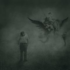 The Dragon Slayer (WayneToTheMax) Tags: dragon slayer tired old fight conflict age smoke fat overweight worn threat battle sympathy warrior flight boy kid child struggle