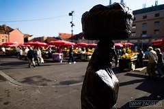 Statue on the Dolac market (whyzagreb.com) Tags: kumica statue monument architecture farmersmarket market history shopping portrait whyzagreb zagreb croatia hrvatska