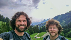 Mountain Selfie (dimthoughts) Tags: europe switzerland bushwalking friends mountain naturallight outdoors people selfportrait moléson portrait