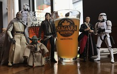 A little pit stop at Niagara Brewing Company. (chevy2who) Tags: inch six blackseriescustom starwarscustom figure action vacation starwarstoy customblackseries toyphotography toy falls niagara niagarabrewingcompany series black custom starwars wars star