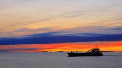 Hagland Borg på Sletta 12. mai -17 (bjarne.stokke) Tags: skyer solnedgang sunset sletta rogaland norway norge norwegen skip ship