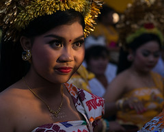 A teenage girl in traditional costume before a tooth filing ceremony, Bali island, Canggu, Indonesia (Eric Lafforgue) Tags: asia asian bali bali2288 balinese beliefs canggu ceremony clothing colorimage customs filing headdress headdresses headgears headshot headwear hindu hinduism horizontal indigenouspeople indonesia indonesian indonesianculture mesangih outdoors realpeople rite rites ritual spiritual toothfiling tradition traveldestination baliisland