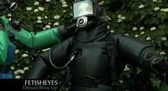 Fetisheyes 'Drysuit Blow Up' Video (videofromfetisheyes) Tags: rubber latex suit drysuit diving scuba inflation blow up gasmask respirator girls women gummi anzug avon viking
