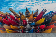 DSC01509 (JiPsi Photography) Tags: harbourfront toronto summer colours kayaks canoes