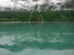 Fjord green (Bosc d'Anjou) Tags: norway sognogfjordane fjærland fjord rain clouds green reflection