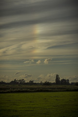 Halo (G. Warrink) Tags: sunset sundown clouds weather outside evening summer summerevening sundog mocksun parhelion