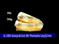 AL 4383 Aliança de Ouro 18K Phantastics Abaulada Anatomica Larg 6,0 mm (portalminas) Tags: al 4383 aliança de ouro 18k phantastics abaulada anatomica larg 6 mm