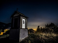 Camporossetto (erripollo) Tags: church light summer outdoor tree travel landscape colors wild italy ngc olympus sky moon nature mountain stars night