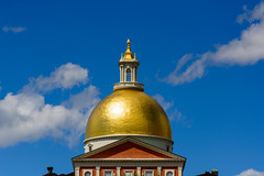 The State House (gendarme02) Tags: blue nikon d7100 reflection august sky nikond7100 2015 boston statehouse summer