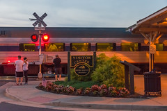 17-3077 (George Hamlin) Tags: virginia manassas railroad passenger train amtrak crescent atk 19 southbound station crossing signal twilight evening sign platform dining car passengers menu heritage photo decor george hamlin photography