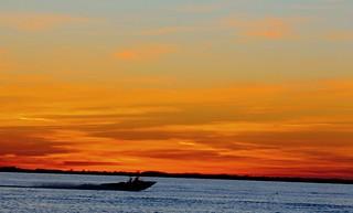 Boat across the lake