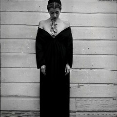 """The Buttoned Longing"" │ second interpretation (RapidHeartMovement) Tags: selfportrait portrait poeticalinspirations poświatowska poetry photography conceptual conceptart blackwhite squareformat rapidheartmovement longing motifofsolitude"