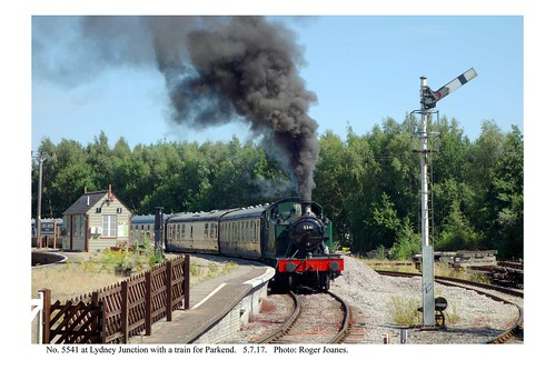 Lydney Junction. No. 5541 & train for Parkend. 5.7.17