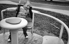 joy (deeluuu) Tags: child fun boy movement blur lines olympusxa playground agfaapx400 200 rodinal czarnobiałe bw blackwhite monochrome motion