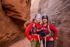 the exploring sisters (Sam Scholes) Tags: redrockcountry utah robbersroostwilderness nikon slotcanyon d800 dslr neverstopexploring southernutah canyoneering canyoncountry dirtydevil wilderness getinthewild