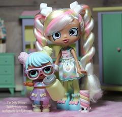 Marsha Mallow and Bon Bon (thedollydreamer) Tags: shoppies doll lolsurprise lol bonbon marshamallow mga moosetoys thedollydreamer bridgetdellaero shopkins
