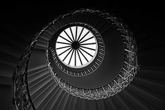 The Tulip Stairs (Skyline:)) Tags: queens house greenwich london uk stairs spiral swirl eye blackwhite 7dwf bwandsepia