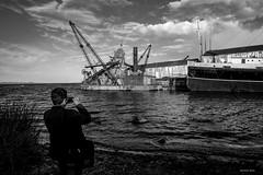 Shooting the lake (Marlon D60) Tags: blackandwhite titikaka puno peru perustreetphotography lumixgf7