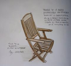 Silla (Fotero) Tags: usk urbansketch urbansketcher urbansketching acuarela watercolor dibujo cuaderno cuaderno12 sketchbook silla mueble boceto prueba lapiz acuarelable