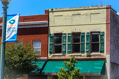 Old building - downtown Laurens S.C. (DT's Photo Site - Anderson S.C.) Tags: canon 6d 24105mml lens downtown laurenssc upstate south carolina uptown main street square vintage rustic old shutter store front nostalgic antique vanishing america usa small town landscape