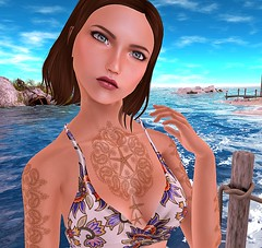 Deep Blue Sea (SL Freebie Addiction) Tags: secondlife sl slfashion slink mayfly lush bensbeauty hellodave wowskins anlárposes eve beusy