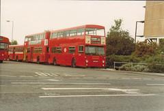 DMS 1893  GHM893N  , Potters Bar [PB] garage . 1/6/80 (busmothy) Tags: pottersbargarage pb londontransport dms dms1893 ghm893n