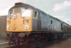 26002 @ Haymarket Shed 1979 (Chris Firth of Wakey.) Tags: class26 26002 haymarket