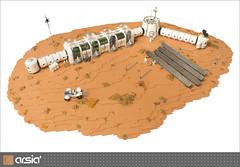 Arsia Prime (eldeeem) Tags: lego mars colony settlement greenhouse vegan rover flesh nougat exploration science scifi foitsop