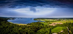DJI_0041Panorama (patrikblom) Tags: sweden se fromabove phantom34k countryside joyofflying sverige sky lake sjö åker pilotdreams fun bliss beforethestorm perfectsky