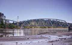 Sunset in West Vancouver (Romain Collet) Tags: canada nature bc brittish columbia landscape nikon water vancouver outdoor d7100 colors beautiful trees west coast pacific bridge trestle train architecture ocean beach shore neutral density filter